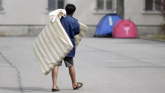 Prekäre Situation in der österreichischen Flüchtlingsunterkunft Traiskirchen