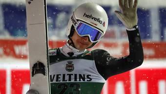 Durchzogene Leistung: Simon Ammann sprang in Oberstdorf auf den 21. Platz