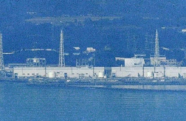 Blick auf einen Teil des AKW Fukushima