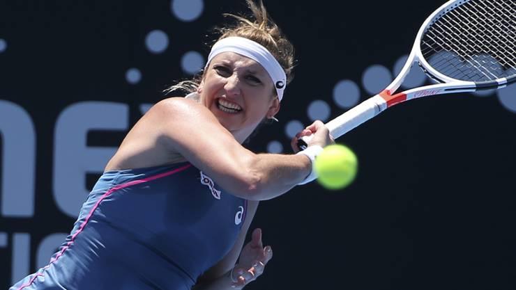 Fühlt sich wieder 100 Prozent fit: Timea Bacsinszky im Einsatz beim WTA-Turnier in Sydney