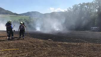 Der Feuerwehr gelang es nach kurzer Zeit, das Feuer unter Kontrolle zu bringen.