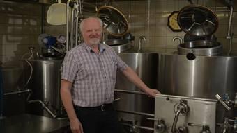 Toni Lötscher in der Brauerei anlässlich des 10-Jahre-Jubiläums von Granicum