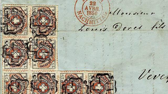 Brief mit Winterthur-Marken
