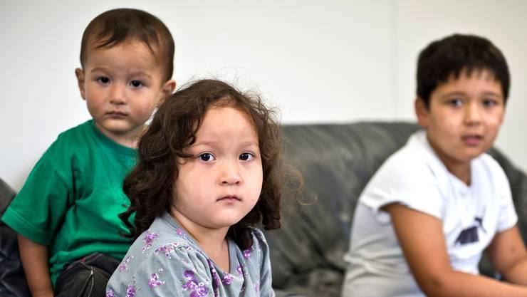 Im neuen Wohncontainer der Asylunterkunft wohnen derzeit ausschliesslich Familien