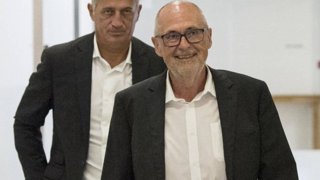 Präsident und Nationaltrainer: «Vladimir war mein bester Entscheid», sagt Peter Gilliéron (vorne)
