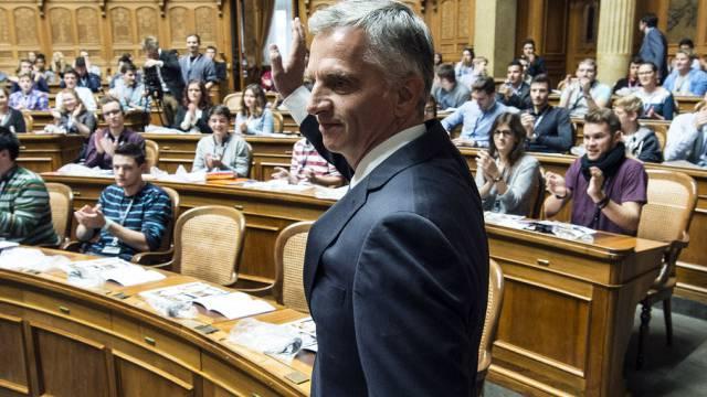 Bundespräsident Didier Burkhalter spricht an der Jugendsession