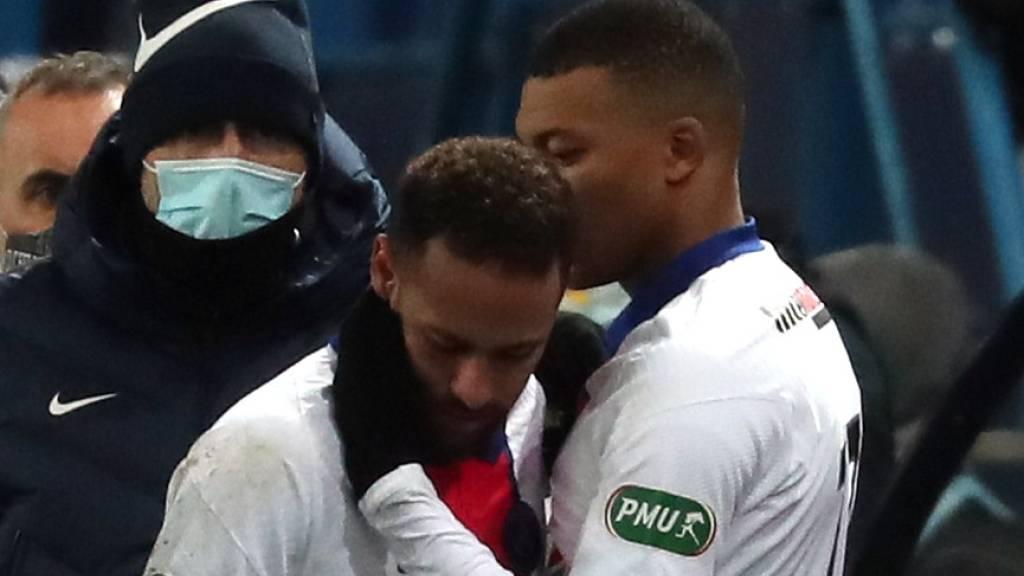 Bei Paris Saint-Germain hoffen sie, dass das Startduo Neymar (links) und Mbappé wieder gemeinsam auflaufen kann