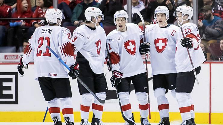 Die Schweizer Junioren liessen gegen Dänemark nichts anbrennen
