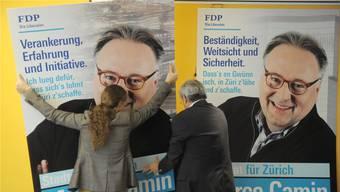 Nichts genützt: Im Frühling 2013 verlor die FDP in der Stadt Zürich mit Kandidat Marco Camin einen von zwei Stadtratssitzen. Doch während sie über Untervertretung in der Stadt klagt, hält die Partei auf dem Land mehr Exekutivmandate, als ihr rechnerisch zustehen würden. Keystone