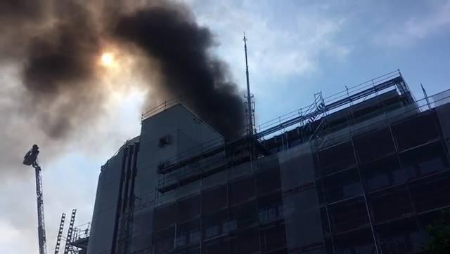 Schwarzer Rauch über der Aarauer Innenstadt