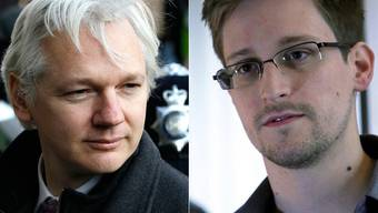 Julian Assange und Edward Snowden.