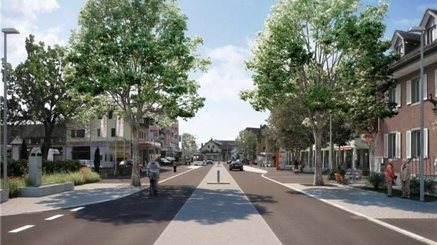 Eine Visualisierung des zukünftigen Dorfzentrums. zvg