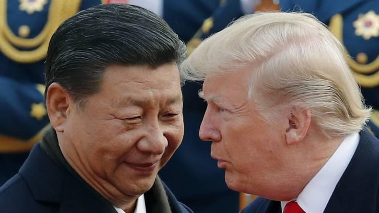 Nähern sich im Handelsstreit wieder etwas an: US-Präsident Donald Trump und Chinas Staatschef Xi Jinping. (Archivbild)