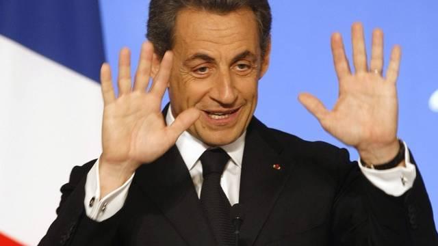 Nicolas Sarkozy nahm es mit Humor (Archiv)