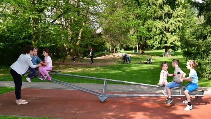Der Spielplatz im Stadtpark Olten. (Archiv)