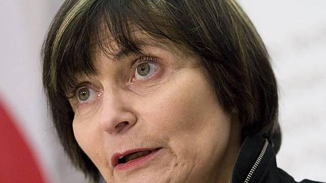 Die zuständige Bundesrätin Micheline Calmy-Rey (Archiv)