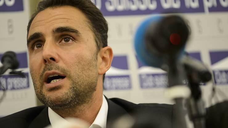 Hervé Falciani an einer Medienkonferenz im Oktober 2015.