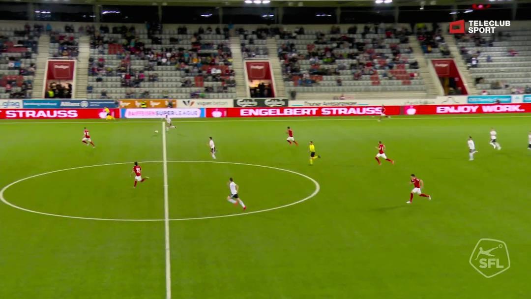 Super League, Saison 2018/19, Runde 35 FC Thun- FC Basel , 1:2 für FC Basel 1893 von Kevin Bua (Assist: Noah Okafor)