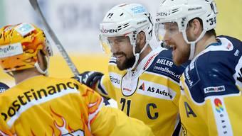 Langenthal gewinnt ersten Final, weil Captain Stefan Tschannen (71) 44 Sekunden vor Schluss ausgleichen und die Verlängerung erzwingen konnte.