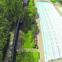 Die Traglufthalle würde über das 50-Meter-Becken zu liegen kommen.
