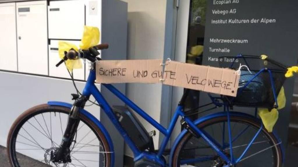 Radweg-Kredit für Urner Talboden mit grossem Mehr gesprochen