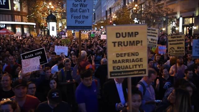 Wütende Anti-Trump-Proteste in San Francisco