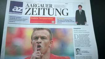 Die Titelseite der «Aargauer Zeitung».