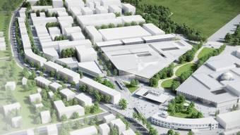 Die Visualisierung des Innovationsparks Dübendorf.