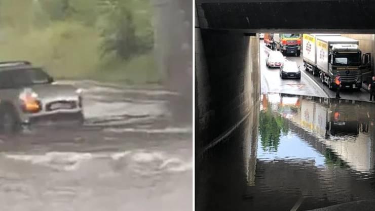 Heftigste Überschwemmungen gab es nach den Gewittern in Luzern.
