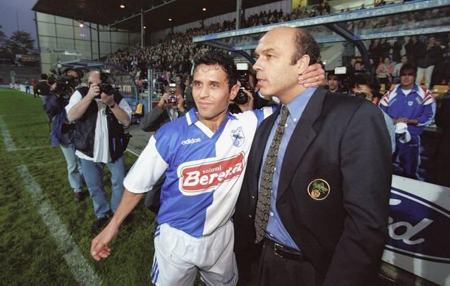 Zuerst sein Spieler bei GC, dann sein Assistent beim gleichen Verein: Marcel Koller (links) und Ex-FCB-Trainer Christian Gross.