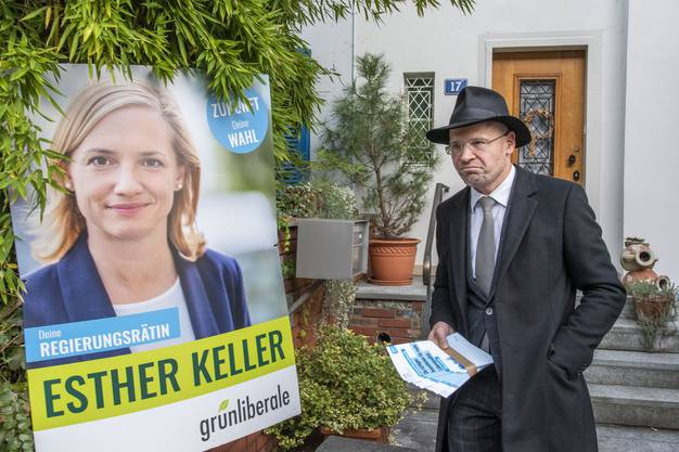Ein «Esther Keller»-Wahlplakat oder eine «Konzernverantwortungsinitiative»-Fahne: Hier will Baschi Dürr nicht klingeln.