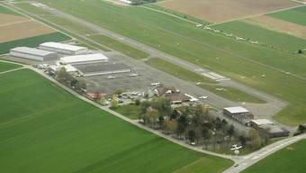 Flugplatz Birrfeld aus der Vogelschau