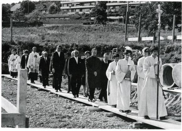 Es war ein langer Weg bis zur Grundsteinlegung der katholischen Kirche Geroldswil 1971.