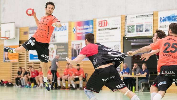 Patrik Vizes konnte gegen Handball Emmen mehrere Treffer erzielen und wusste zu überzeugen.