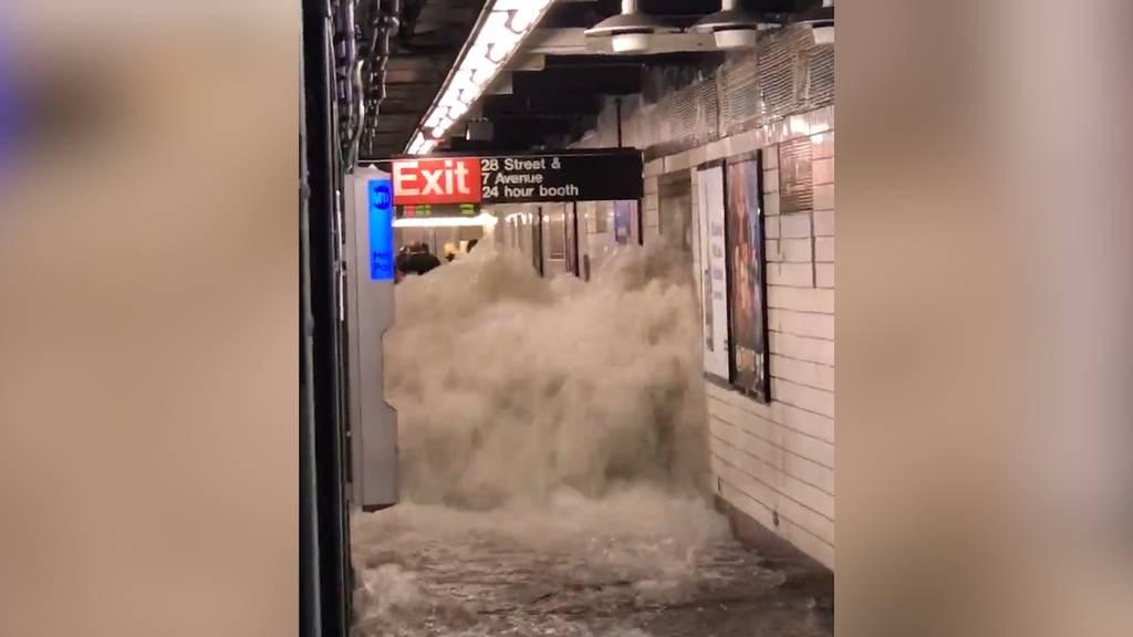 Rekordregen: Hurrikan «Ida» flutet  New York City