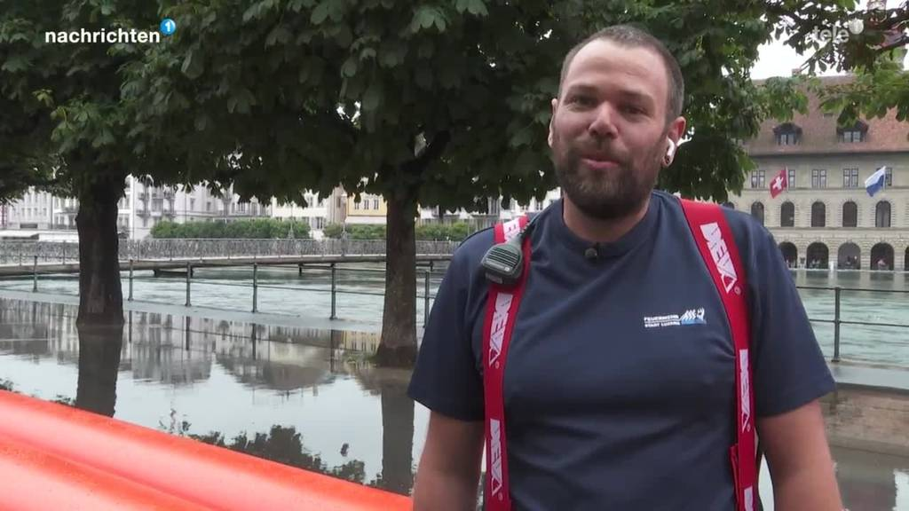 Hochwassereinsatz Feuerwehr Luzern