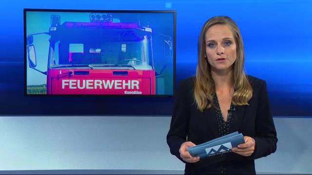 Feuerwehrauto mit Blaulicht verunfallt