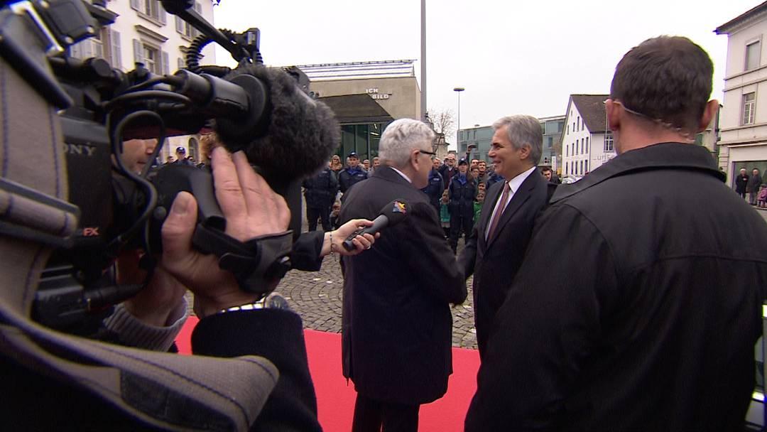 Hoher Besuch: Empfang des österreichischen Bundeskanzlers in Aarau.