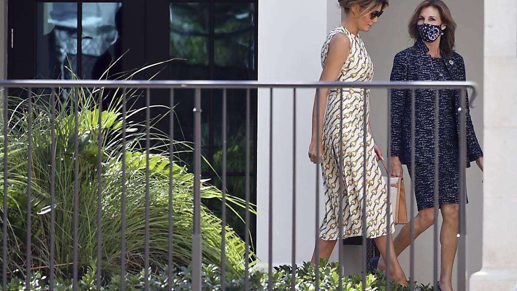 First Lady Melania Trump wählt in Florida - ohne Maske