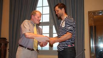 Ein Diplom der Stadt Solothurn für die sportlichen Erfolge