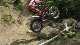 Über Stock und Stein :Die Fahrer, die auch über Felsen die Balance halten, punkten im Trial.