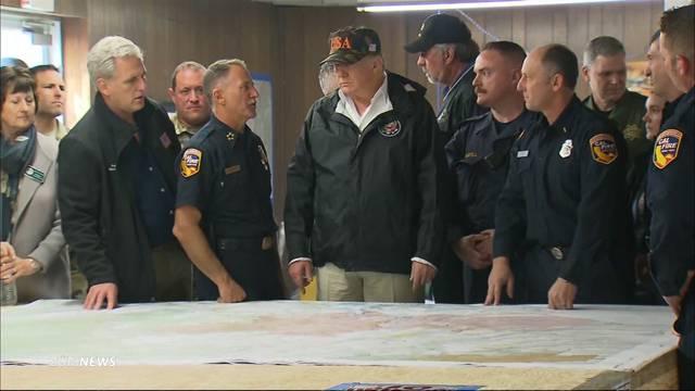 Trump reist in Walbrandgebiet
