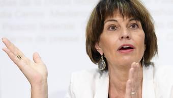 Die Schweiz werde sich einem Kompromiss anschliessen, aber nicht zu jedem Preis, sagte Leuthard am Rande der Uno-Klimakonferenz in Katwoice. Ohne nationale Ziele sei der Prozess nicht glaubwürdig. (Archivbild)