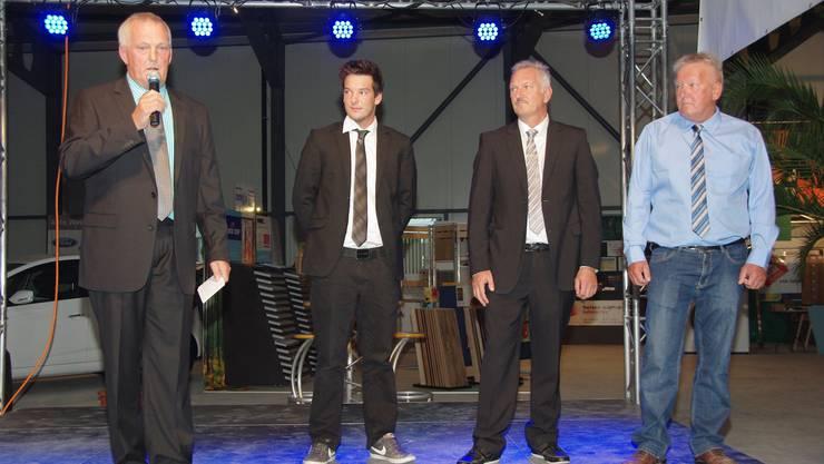 Zwei Generationen Rebmann, von links Bruno, Julian, Jörg und René Rebmann