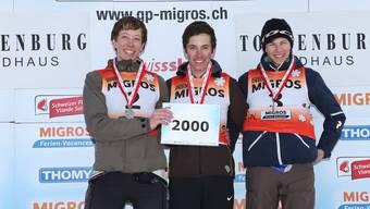 Cyrill Albani (Mitte) gewinnt Gold.