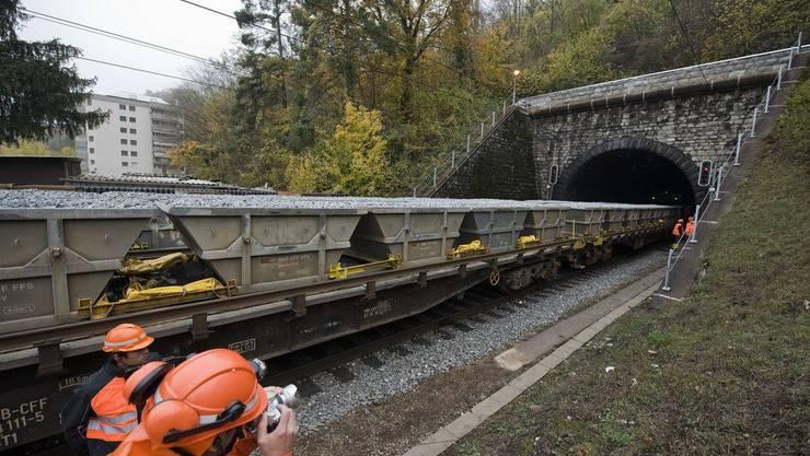 Hauensteintunnel.