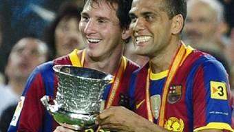 Lionel Messi und Daniel Alves holen mit Barcelona den Supercup