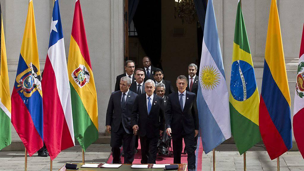 In der Hauptstadt Chiles haben am Freitag die Präsidenten mehrerer Staaten ein neues Bündnis für die Zusammenarbeit gegründet.