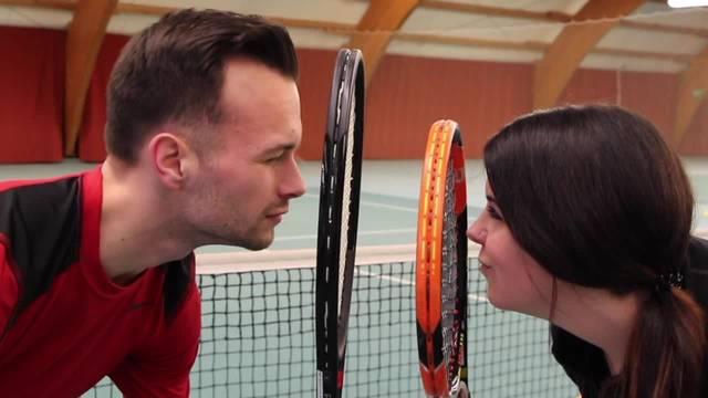 Nicole und André beim Tennis