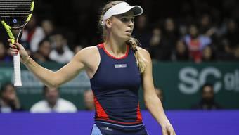 Caroline Wozniacki läuft es zum Auftakt der WTA Finals nicht nach Plan